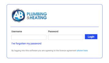 Client portal login page